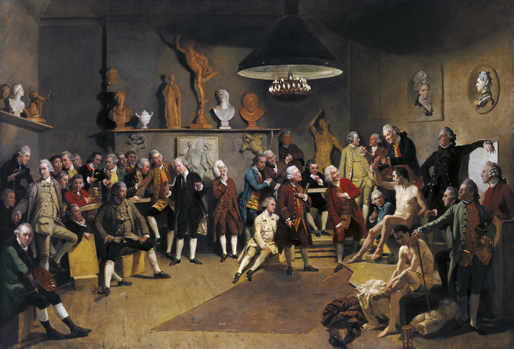 The Academicians of the Royal Academy1771-72