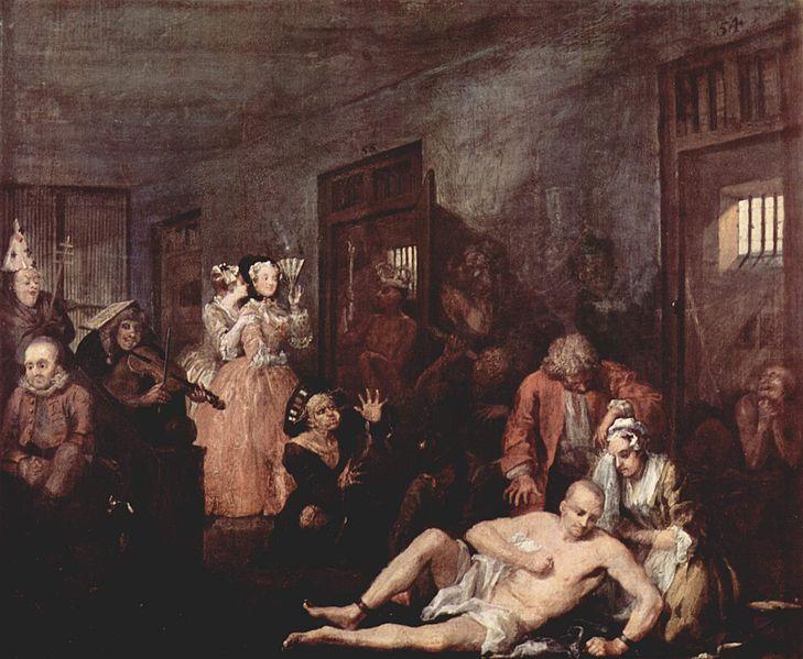 Hogarth, Bethlem, 1732-35