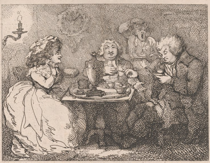 Tea : Mr. & Mrs. Boswell sit down to tea with Dr. Johnson (1786)