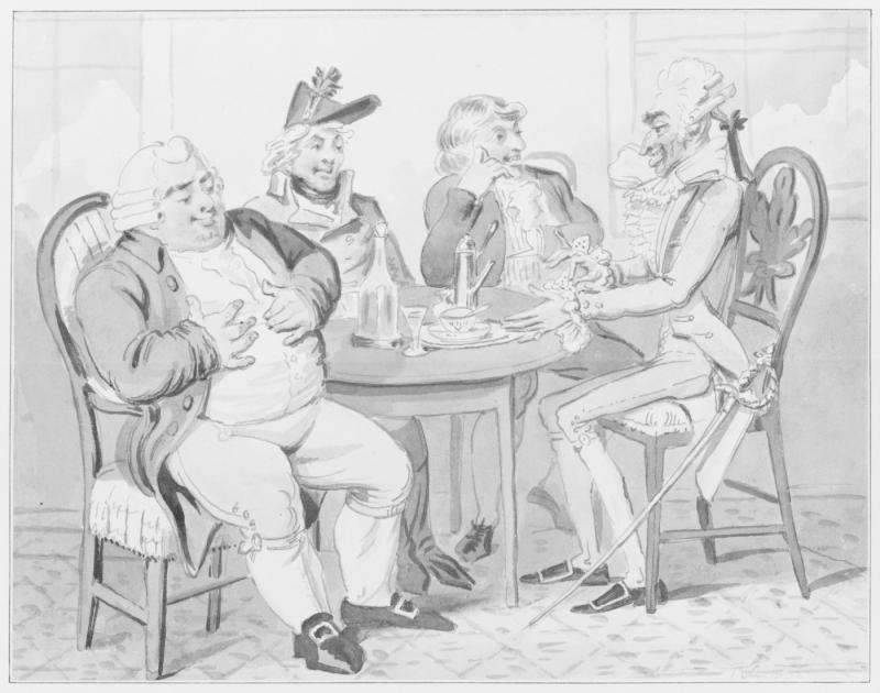 Isaac Cruikshank, English improvement on French nation (Huntingdon Library)