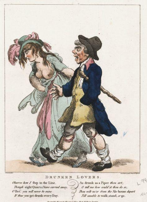 Drunken Lovers by Thomas Rowlandson (1798)
