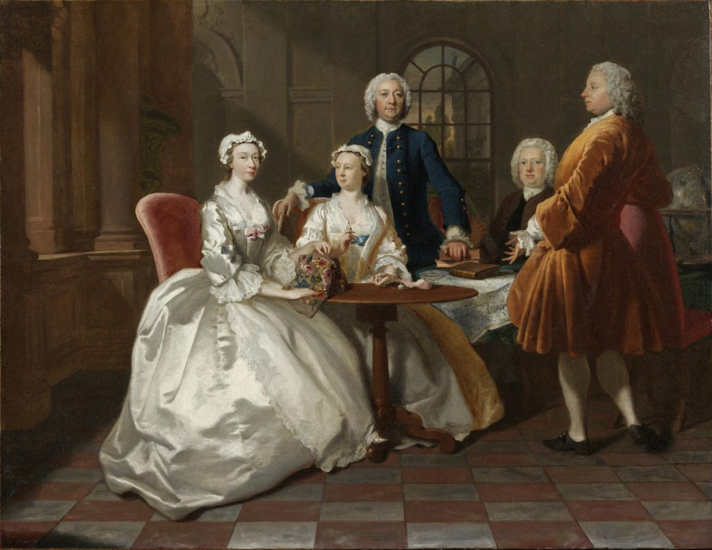 Joseph Highmore, Conversation piece, c. 1744