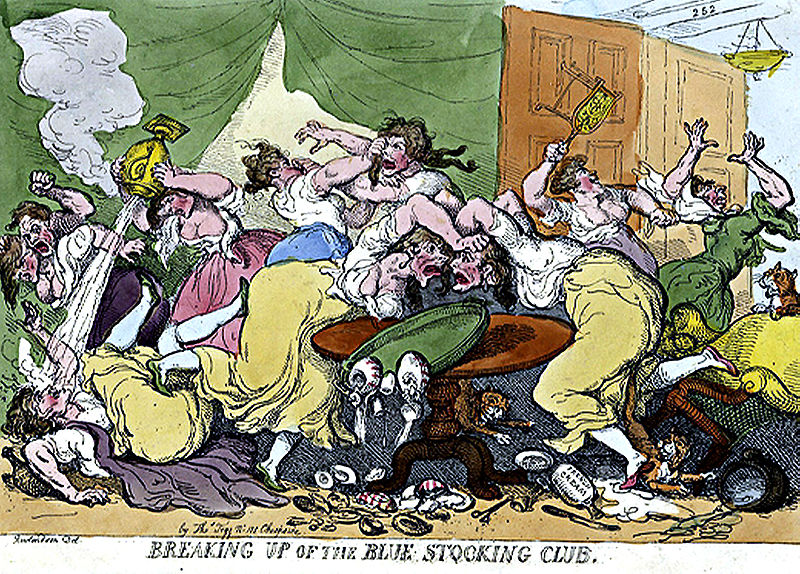 Rowlandson and Bluestockings (1815)
