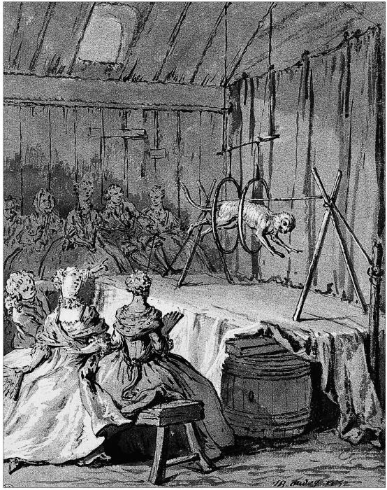 Jean-Louis Baptiste Oudry, Le Singe et le léopard, dessin pour l'illustration des Fables de La Fontaine, Paris, musée du Louvre, département des Arts graphiques.