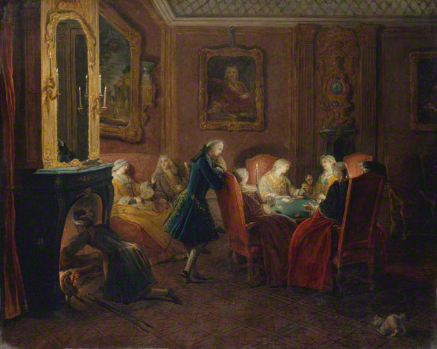 Interior with Card Players, about 1752, Pierre-Louis Dumesnil