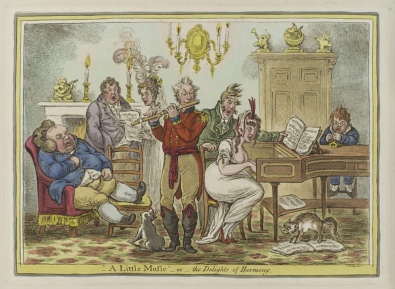 Gillray, 'A little music - or - the delights of harmony' (1810)