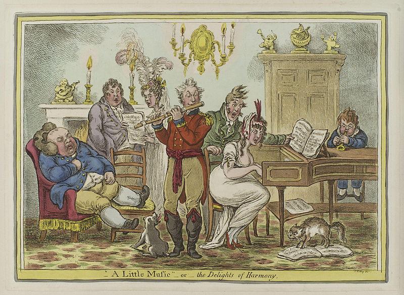 James Gillray, A little Music (1810)