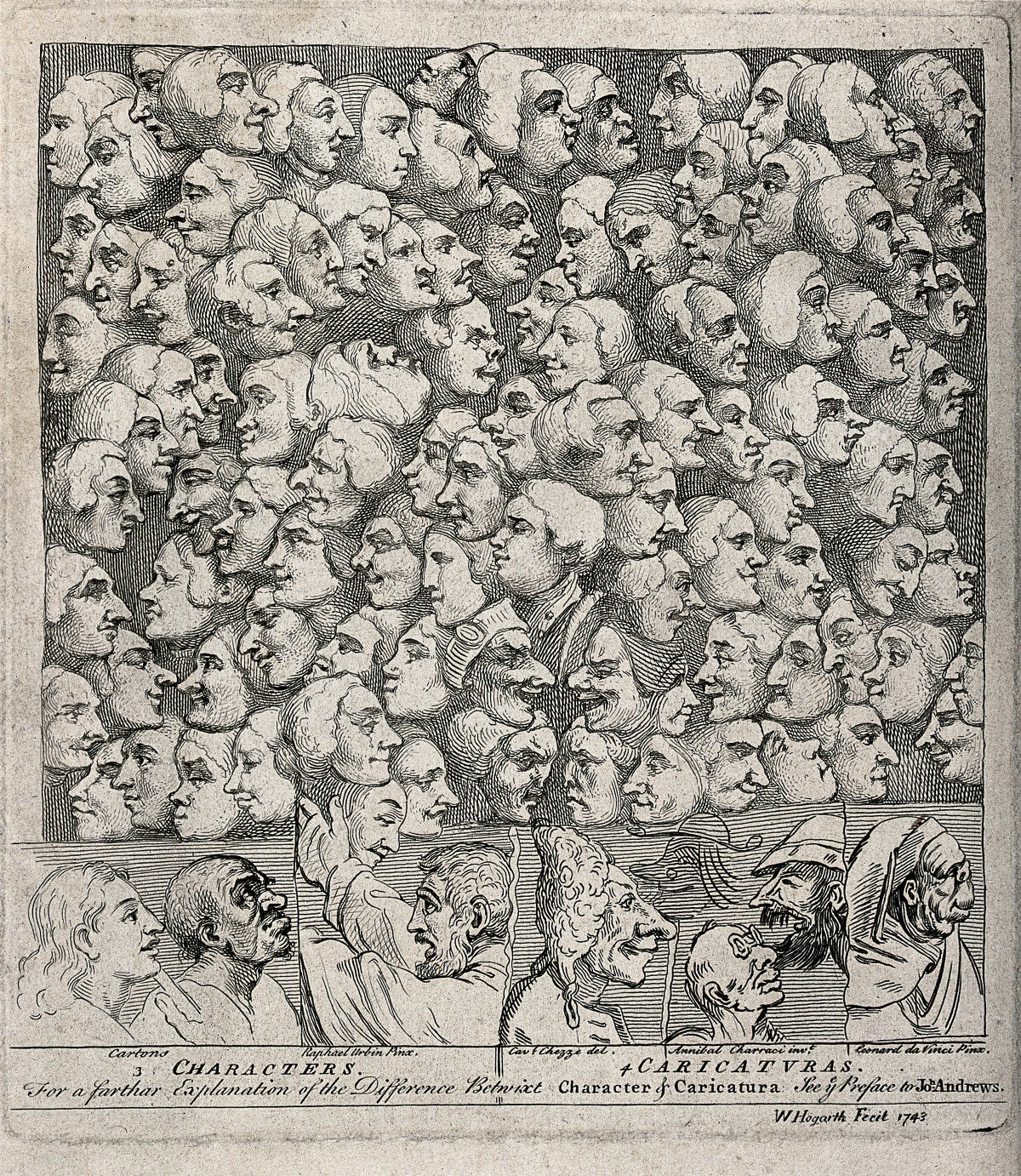 Hogarth Characters and Caricaturas (1743)