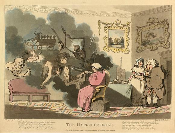 Rowlandson Hypochondria 1788