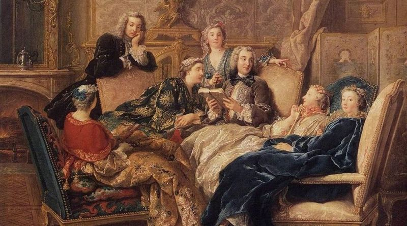 De Troy, Lecture dans un salon ou La lecture de Molière
