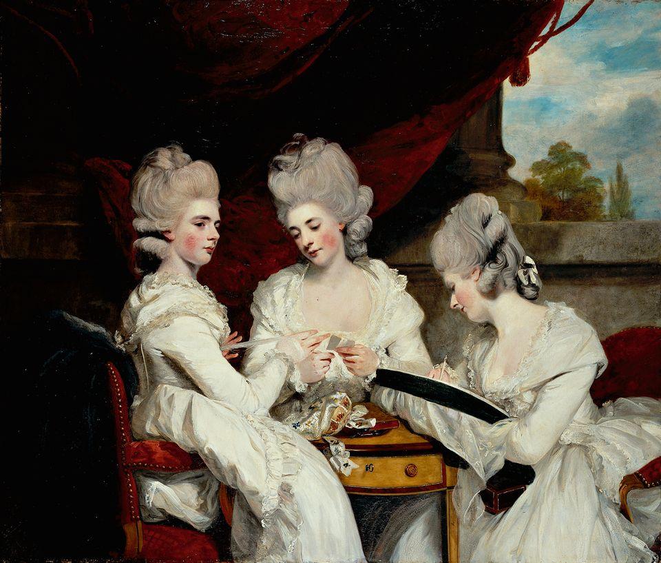 walpole's nieces at strawberry by joshua_reynolds_1781